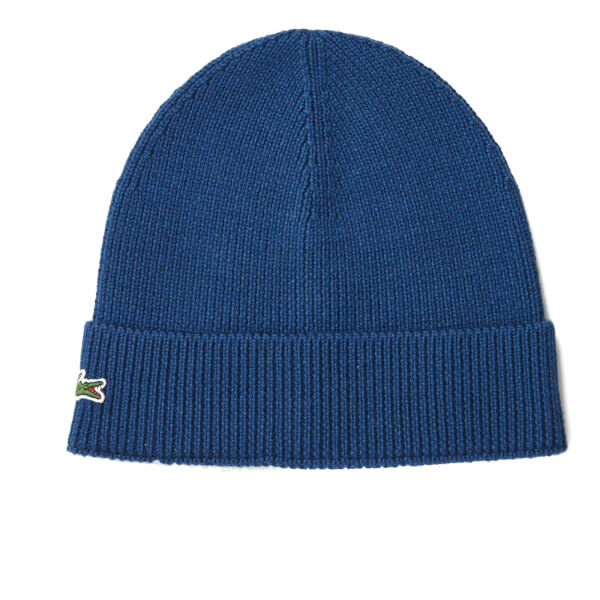Lacoste Men's Ribbed Beanie Hat - Philippines Blue
