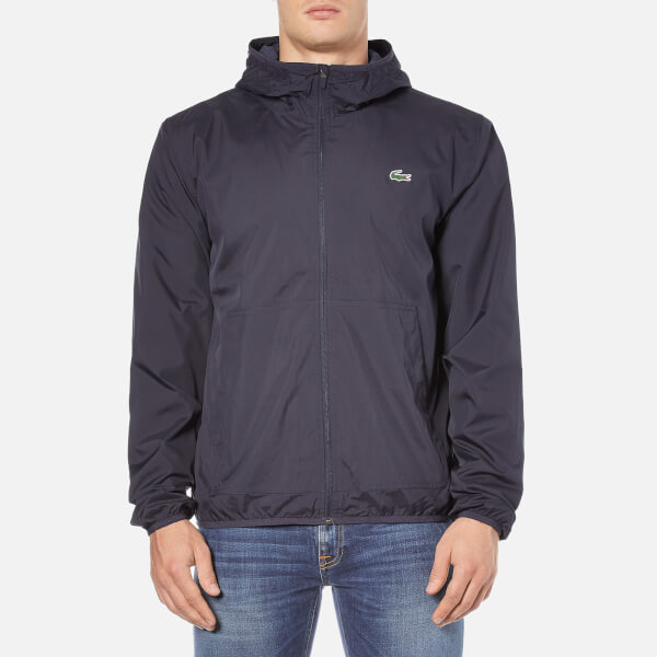 Lacoste Men's Showerproof Lightweight Jacket - Navy Blue