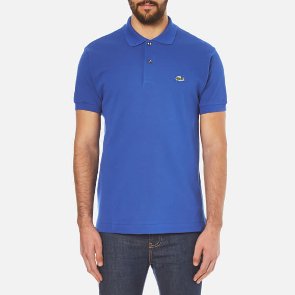 Lacoste Men's Basic Pique Short Sleeve Polo Shirt - Steamer