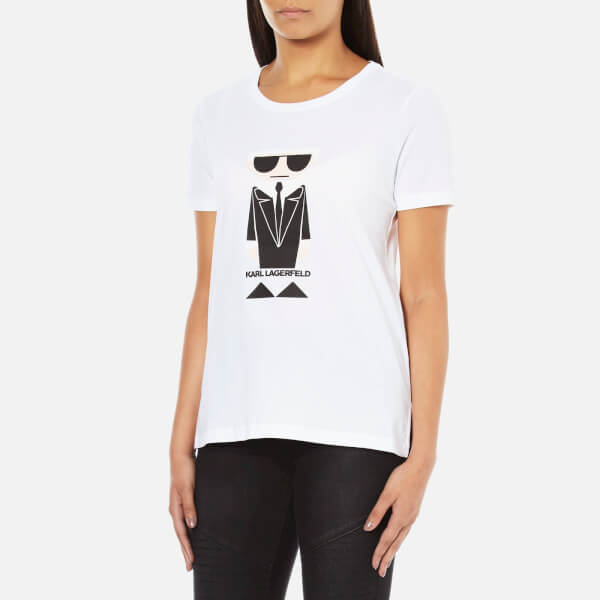 karl lagerfeld women 39 s kocktail karl t shirt white. Black Bedroom Furniture Sets. Home Design Ideas