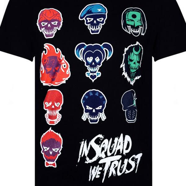 Dc Comics Men S Suicide Squad Villain Skull T Shirt