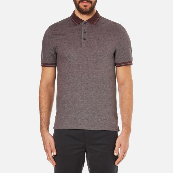 Michael Kors Men's Tipped Birdseye Polo Shirt - Burgundy