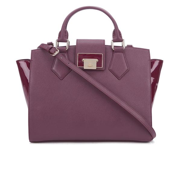 Vivienne Westwood Women's Opio Saffiano Tote Bag - Bordeaux