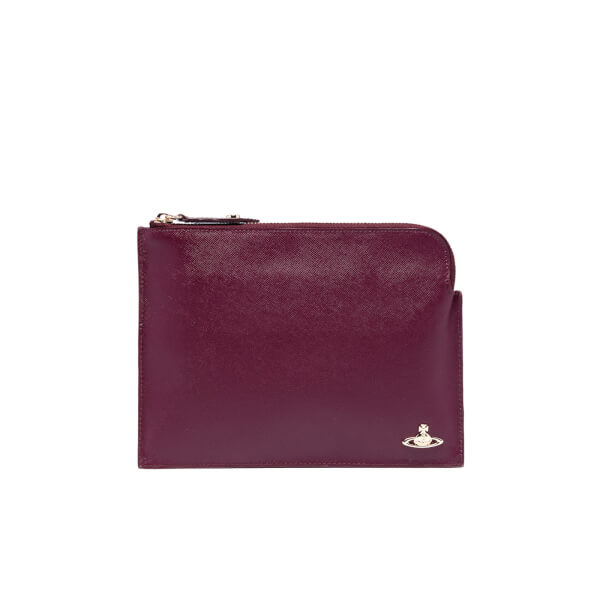 Vivienne Westwood Women's Opio Saffiano Small Clutch Bag - Bordeaux