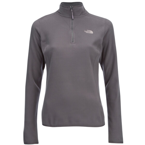 a569cf0e30 The North Face Women s 100 Glacier 1 4 Zip Fleece - Rabbit Grey Mens ...