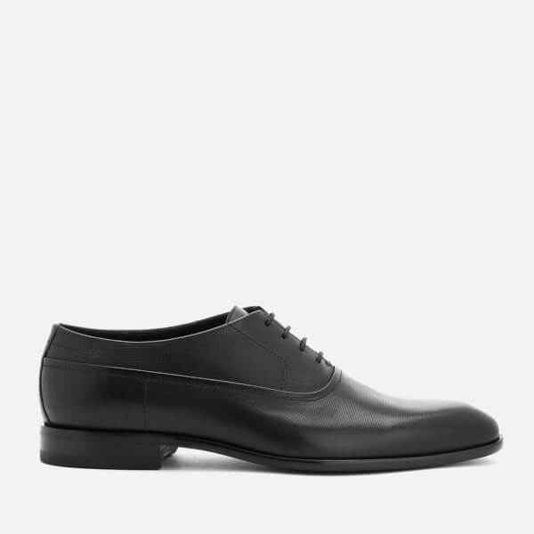 HUGO Men's Dressapp Leather Lace Up Oxford Shoes - Black