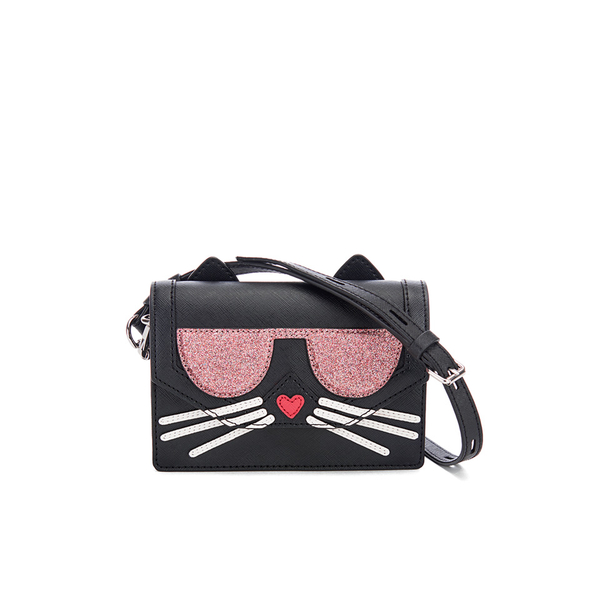 b7602374e7d9 Karl Lagerfeld Women s K Kocktail Cat Cross Body Bag - Black Womens ...
