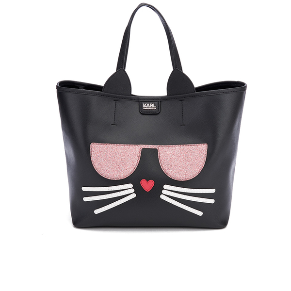 Karl Lagerfeld Women's K/Kocktail Choupette Shopper Bag - Black