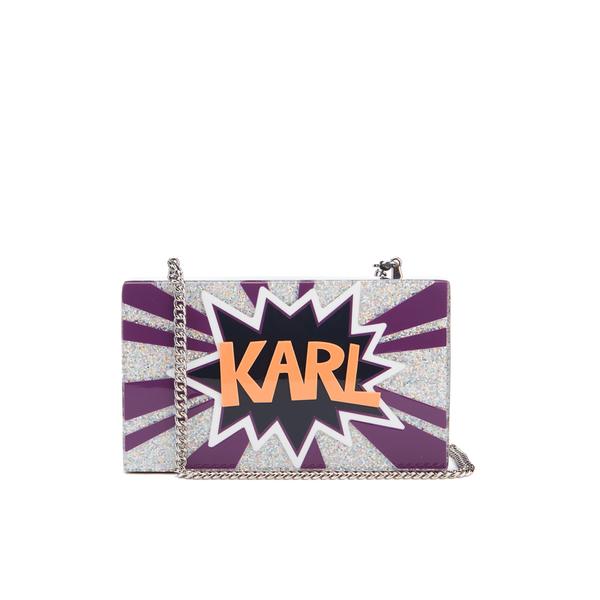 Karl Lagerfeld Women's K/Pop Minaudiere Clutch Bag - Dark Sapphire