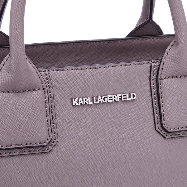 654461851109 Karl Lagerfeld Women s K Klassik Tote Bag - Rosy Brown  Image 4