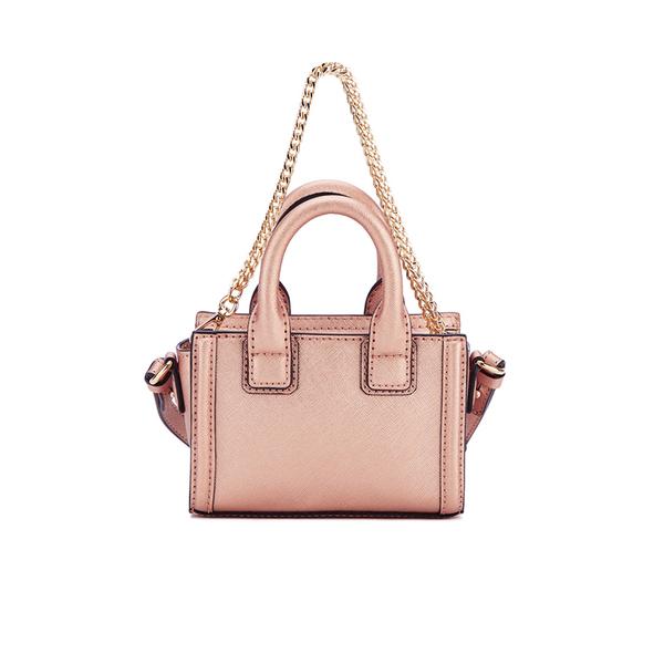 4c64b22b557e Karl Lagerfeld Women s K Klassik Micro Tote Bag - Metallic Rose  Image 6
