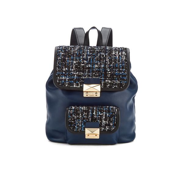 Karl Lagerfeld Women's K/Kuilted Tweed Backpack - Midnight Blue