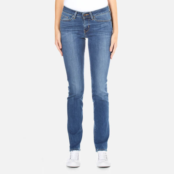 Levi's Women's 712 Slim Straight Fit Jeans - Blue Vista: Image 1