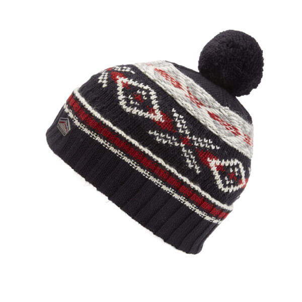 Superdry Men's Malmo Fairisle Beanie Hat - Dark Navy Mens ...