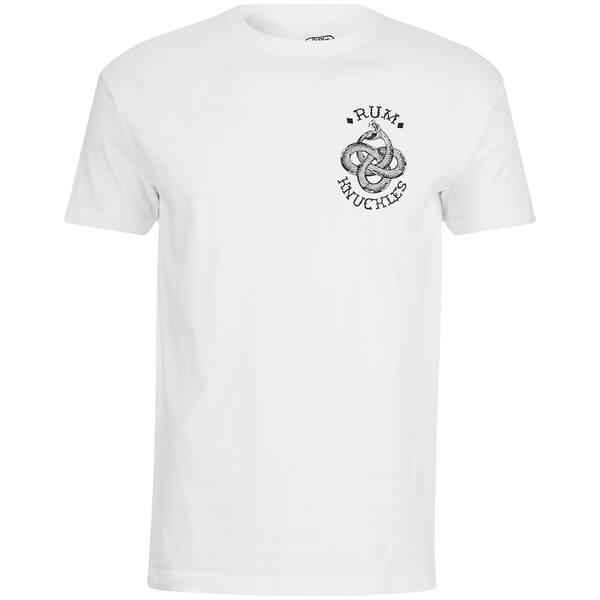 T-Shirt Homme Rum Knuckles Eternal Snake -Blanc