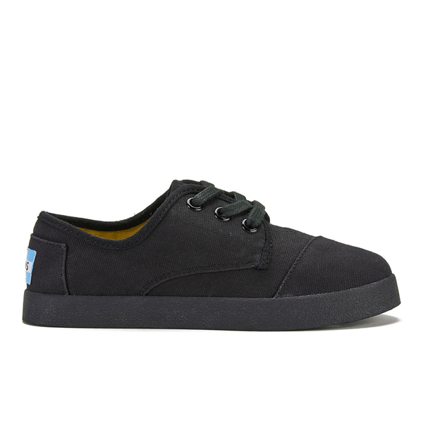 TOMS Kid's Paseo Canvas Trainers - Black