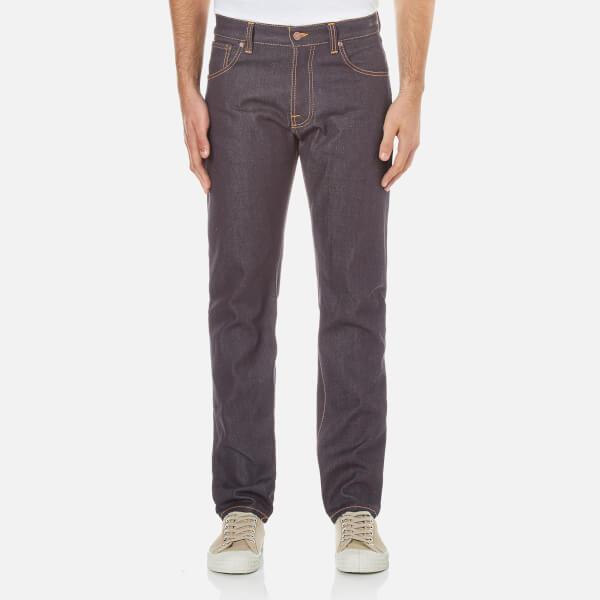 Nudie Jeans Men's Steady Eddie Regular/Straight Leg Jeans - Dry Classic Orange