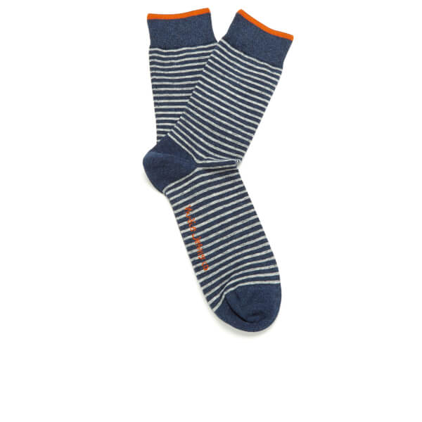Nudie Jeans Men's Striped Socks - Blue