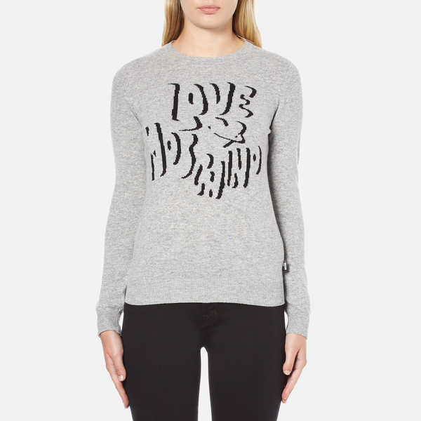 Love Moschino Women's Slogan Jumper - Grey Melange