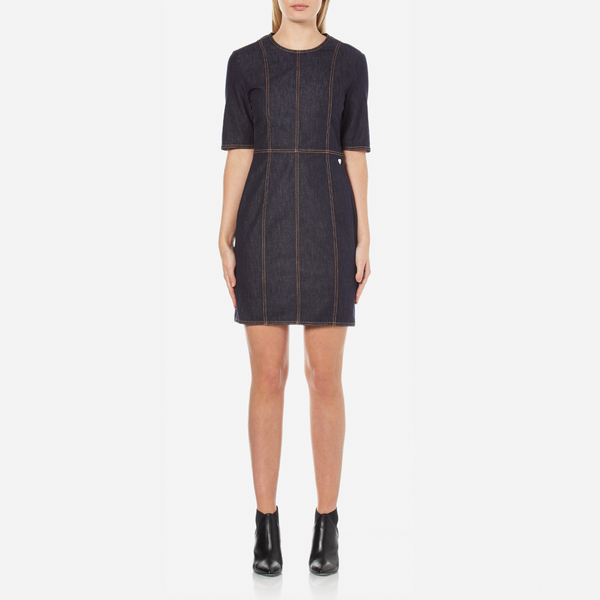 Love Moschino Women's Denim Fitted Dress - Denim