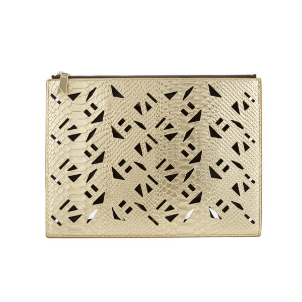 KENZO Women's Essentials Mini A4 Pouch - Gold