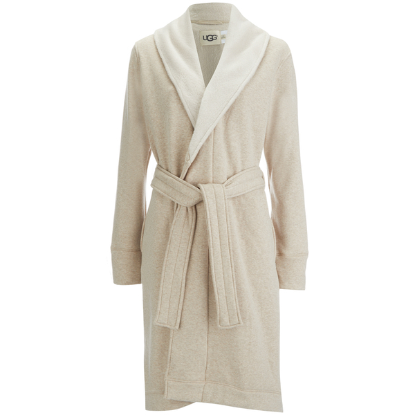 UGG Women\'s Heritage Comfort Duffield Dressing Gown - Oatmeal Heather