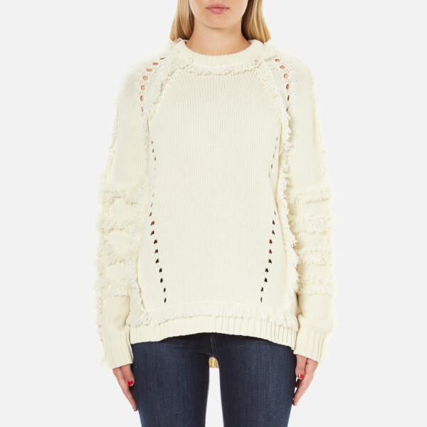 Belstaff Women's Karli Fringed Knitted Jumper - Ivory