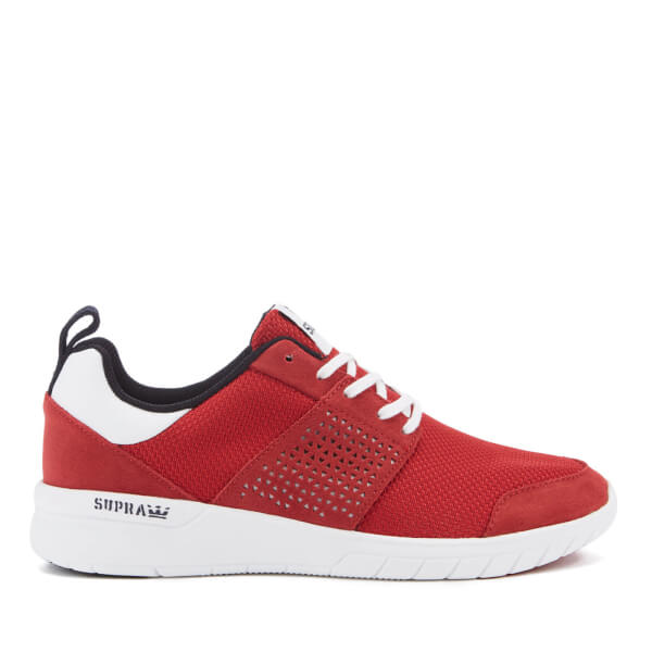 Supra Men's Scissor Mesh Running Trainers - Red