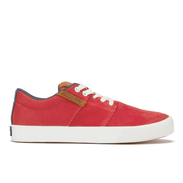 Baskets Homme Supra Stacks Vulc II en Daim - Rouge