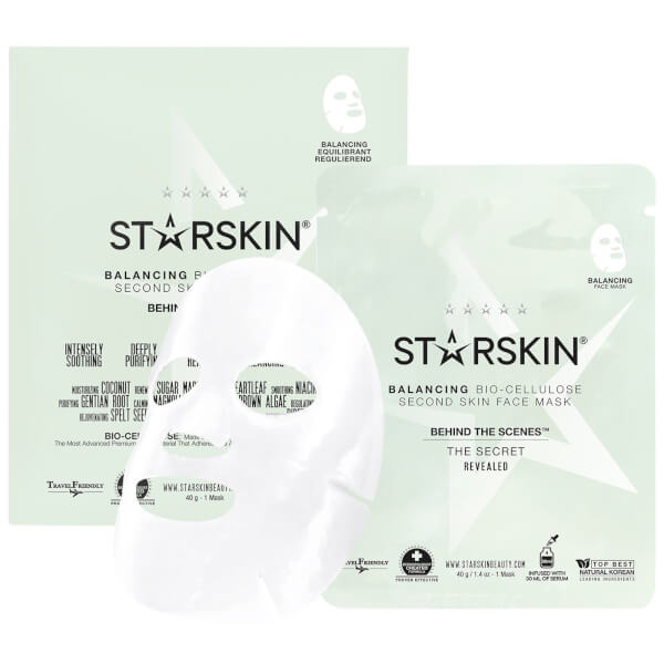 STARSKIN Behind The Scenes™ Coconut Bio-Cellulose Balancing Face Mask
