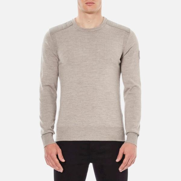 Belstaff Men's Kerrigan Crew Neck Sweater - Chino Melange