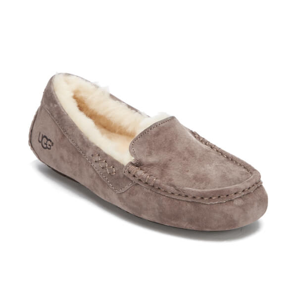 UGG Women's Ansley Moccasin Suede Slippers - Stormy Grey: Image 2