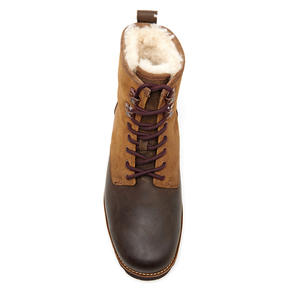 4cccecec7e9b39 UGG Men s Hannen TL Waterproof Leather Lace Up Boots - Dark Chestnut  Image  3