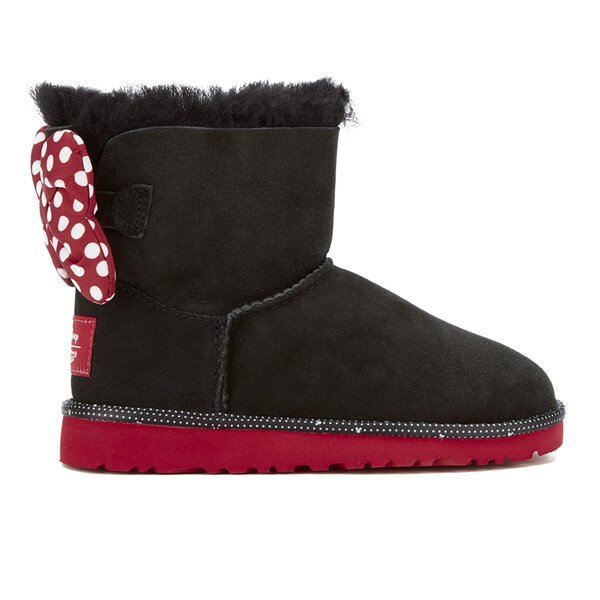 UGG Kids' Sweetie Bow Disney Boots - Black