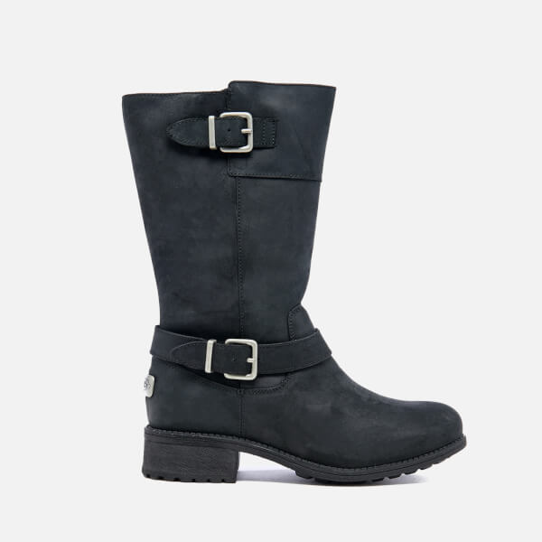 UGG Women's Tisdale Buckle Biker Boots - Black