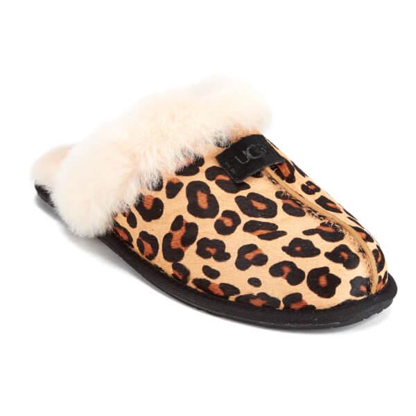 7f20575bd2f9 UGG Women s Scuffette II Calf Hair Leopard Slippers - Chestnut Leopard   Image 2