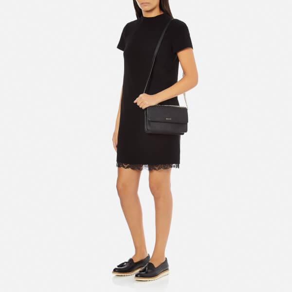 21eef9ec28474 DKNY Women s Bryant Park Small Flap Crossbody Bag - Black  Image 2