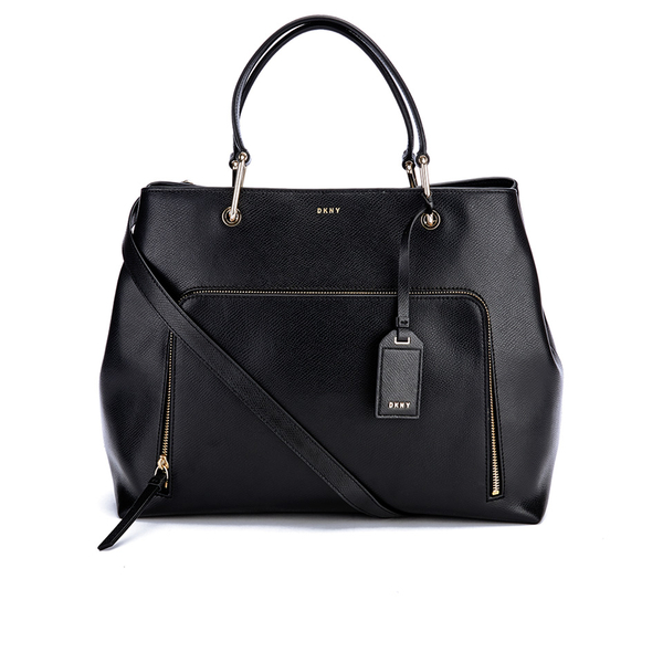 DKNY Women's Bryant Park Large Satchel - Black