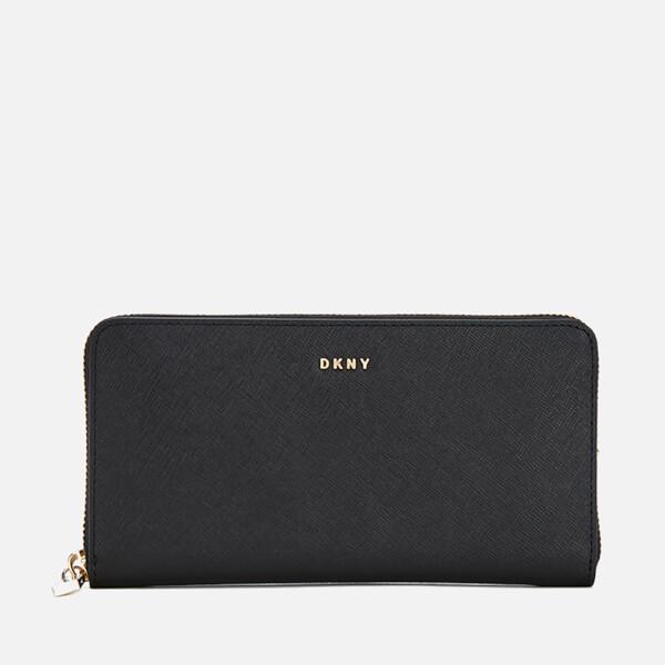 DKNY Women's Bryant Park Large Zip Around Purse - Black