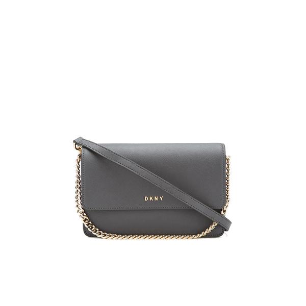 DKNY Women's Bryant Park Small Flap Crossbody Bag - Dark Charcoal
