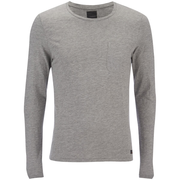 Produkt Men's Slub Pocket Long Sleeve Top - Light Grey Melange