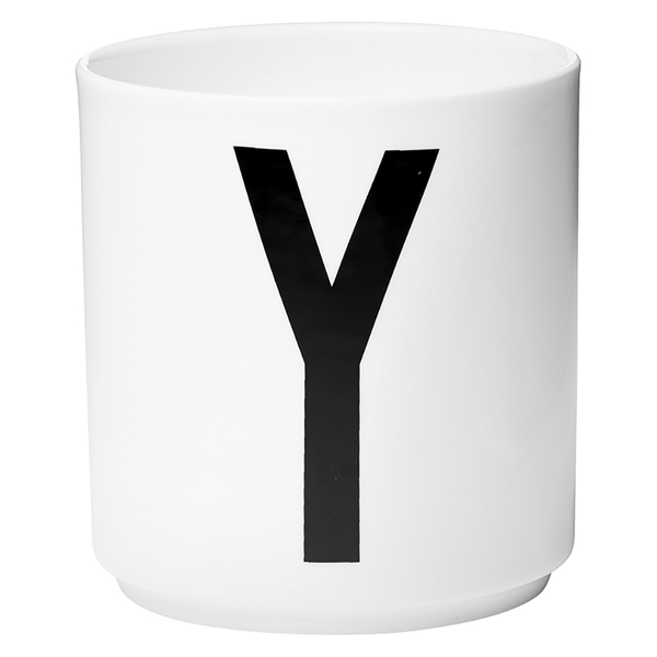 Design Letters Porcelain Cup - Y