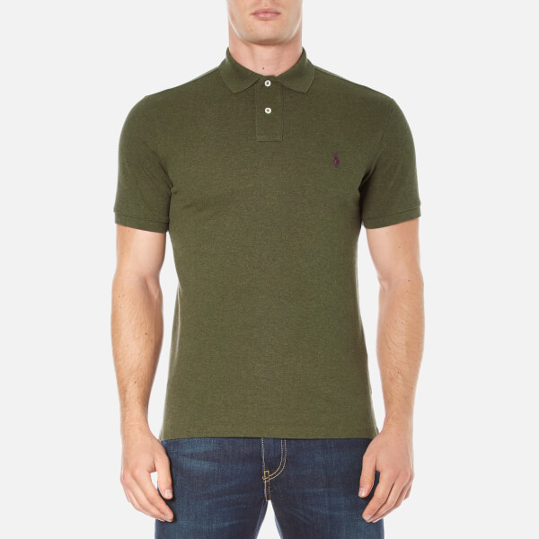 Polo Ralph Lauren Men's Short Sleeve Custom Fit Polo Shirt - Alpine Heather