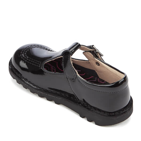 Kickers Kids  Kick T Patent Flat Shoes - Black  Image 4 2653730eb85