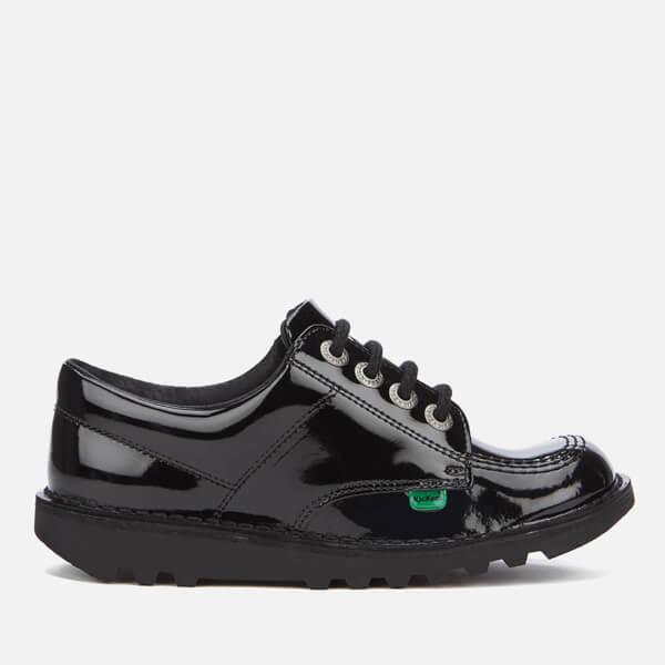 Kickers Kids' Kick Lo Patent Shoes - Black