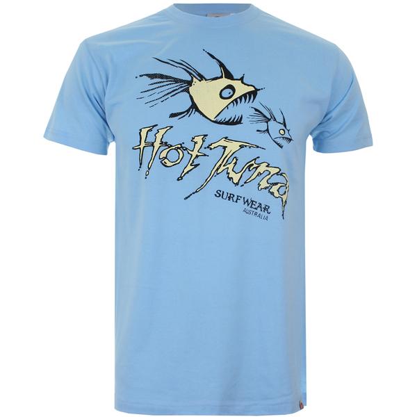 T-Shirt Homme Hot Tuna Nom Nom -Bleu Ciel