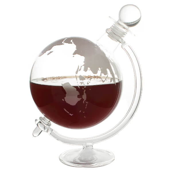 glass globe whisky decanter image 2