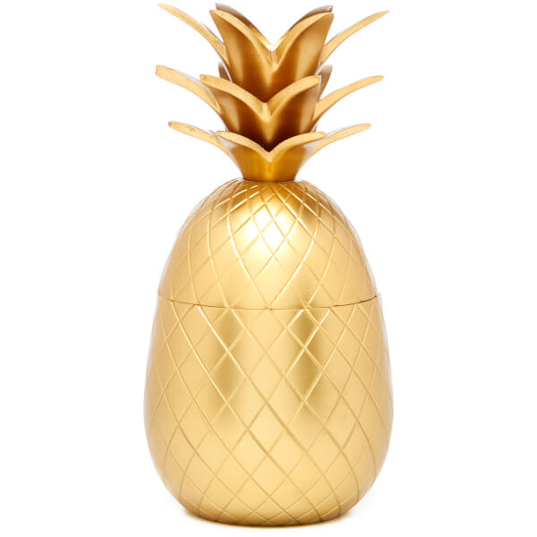 pineapple ice bucket storage pot matt brass homeware