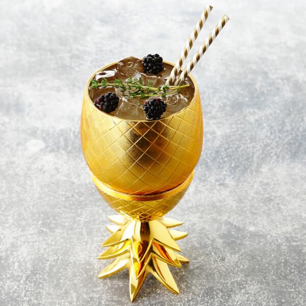 Boite Gobelet Ananas -Or Mat