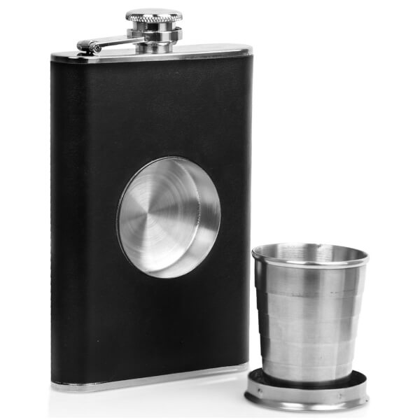 Hunters Stainless Steel Hip Flask and Shot Glass